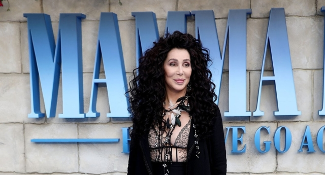 Cher attends the UK Premiere of Mamma Mia! Here We Go Again at Eventim Apollo on July 16, 2018 in London, England. (John Phillips/Getty)