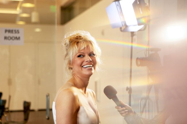 LOS ANGELES, CA - JUNE 07:  Actress Pamela Anderson attends the LA launch party for Prince's PETA Song at PETA on June 7, 2016 in Los Angeles, California.  (Photo by Matt Winkelmeyer/Getty Images)