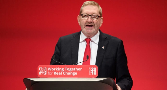 Len McCluskey of Unite the Union addresses delegates at Labour Party conference (Leon Neal/Getty)