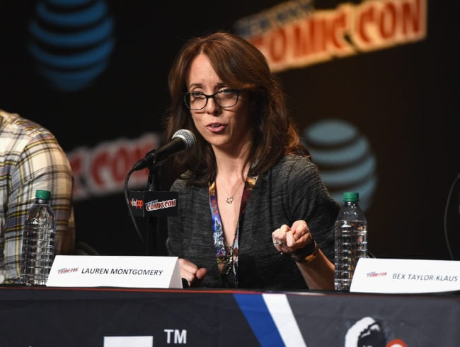 NEW YORK, NY - OCTOBER 07:  Lauren Montgomery speaks onstage at Voltron Legendary Defender Season 2 Sneak Peek at Jacob Javits Center on October 7, 2016 in New York City.  (Photo by Nicholas Hunt/Getty Images)