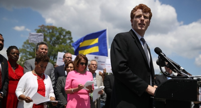 U.S. Rep. Joe Kennedy during a news conference with members of the House leadership and the LGBT Equality Caucus (Justin Sullivan/Getty)