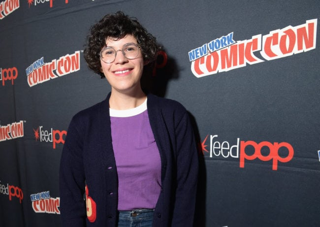 NEW YORK, NY - OCTOBER 04: Steven Universe creator, voice actor, and author Rebecca Sugar speaks onstage attends New York Comic Con 2017 - JK at Hammerstein Ballroom on October 4, 2017 in New York City. 27356_002 (Photo by Jason Kempin/Getty Images for Turner)