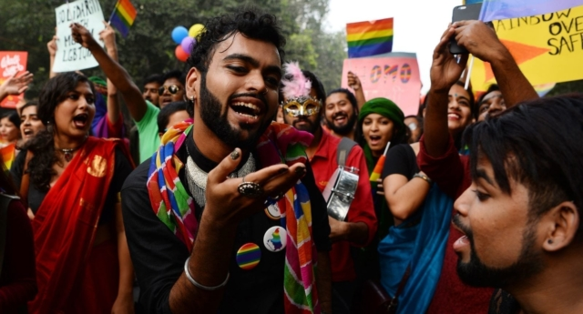 An LGBT pride parade in New Delhi