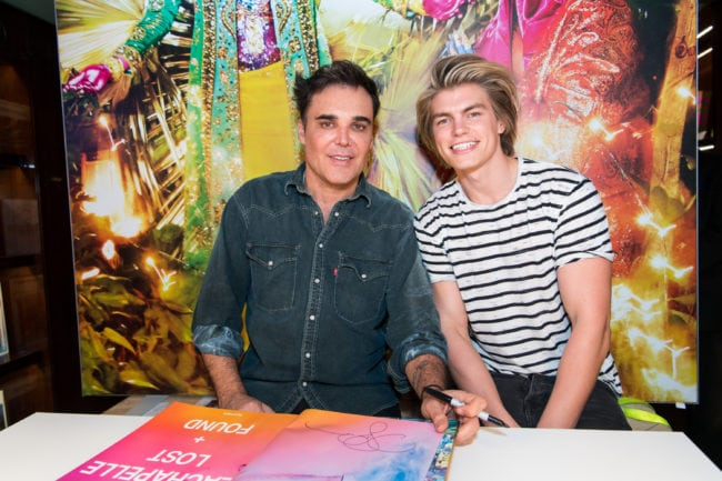 BEVERLY HILLS, CA - DECEMBER 17: Photographer David LaChapelle (L) and actor Zander Hodgson attend the David LaChapelle book signing at TASCHEN Store Beverly Hills on December 17, 2017 in Beverly Hills, California. (Photo by Emma McIntyre/Getty Images)