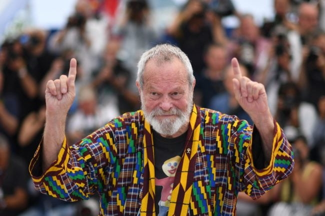 "British-US director Terry Gilliam poses on May 19, 2018 during a photocall for the film ""The Man Who Killed Don Quixote"" at the 71st edition of the Cannes Film Festival in Cannes, southern France. (Photo by Loic VENANCE / AFP)        (Photo credit should read LOIC VENANCE/AFP/Getty Images)"