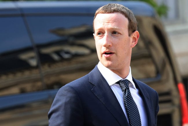 "Facebook CEO Mark Zuckerberg arrives to attend a meeting with the French president at the Elysee Palace in Paris on May 23, 2018. - Fresh from saying ""sorry"" to European lawmakers, Facebook CEO Mark Zuckerberg holds talks with the president on May 22 where he will face renewed pressure over his company's tax policies. (Photo by ludovic MARIN / AFP)        (Photo credit should read LUDOVIC MARIN/AFP/Getty Images)"