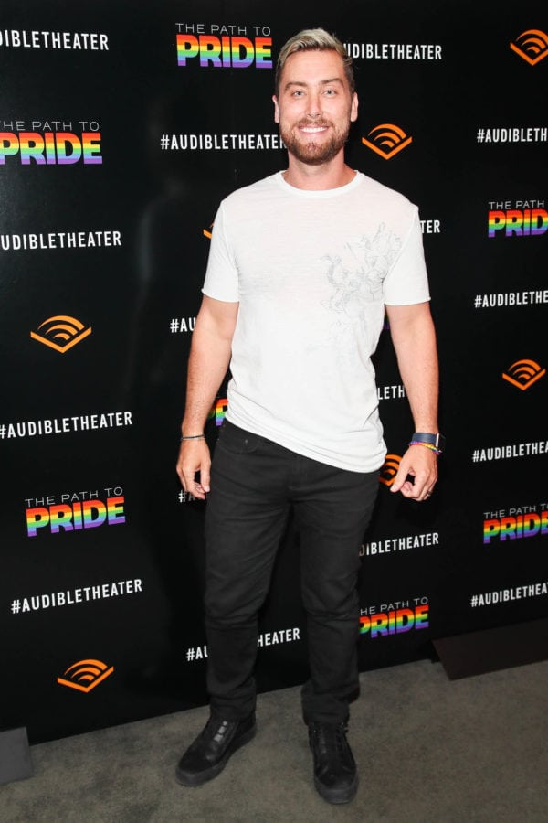 """NEW YORK, NY - JUNE 25:  Lance  Bass attends a performance of the Audible original, """"The Path To Pride"""" at the Minetta Lane Theatre on June 25, 2018 in New York City."""