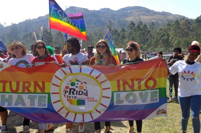 People take part in eSwatini's first Pride (MONGI ZULU/AFP/Getty)