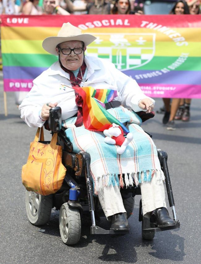 LONDON, ENGLAND - JULY 07:  A parade goer during Pride In London on July 7, 2018 in London, England. It is estimated over 1 million people will take to the streets and approximately 30,000 people and 472 organisations will join the annual parade, which is one of the world's biggest LGBT+ celebrations.