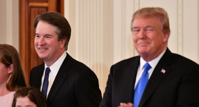 Supreme Court nominee Brett Kavanaugh with US President Donald