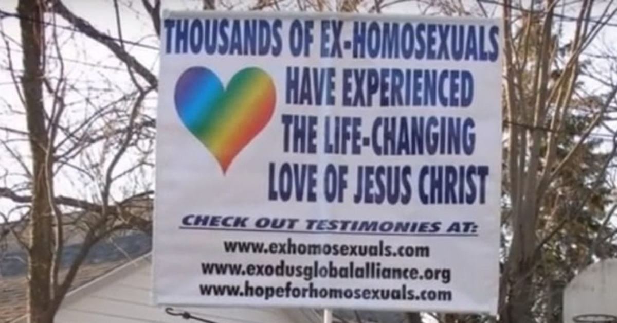 Gay 'cure' activists forgot to renew their web domain, so I bought it to point out it's bulls**t