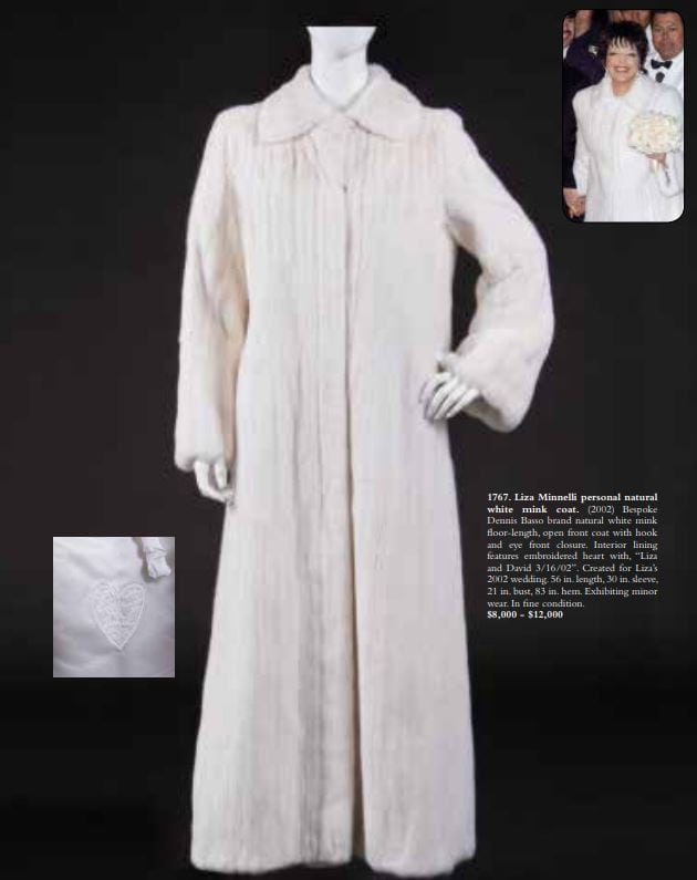 Liza Minnelli selling off her wedding dress, awards and