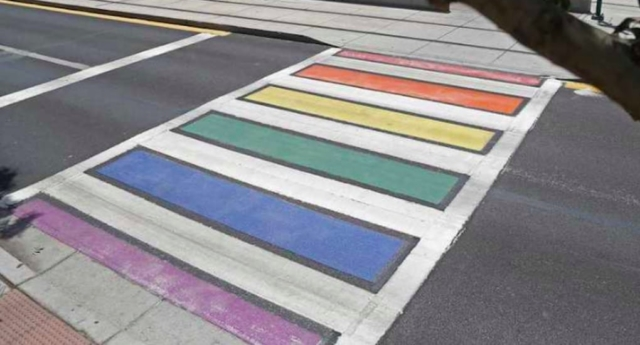 Phoenix has painted two crossings with Pride colours in a tribute to its LGBT+ residents. (ILoveGayPhoenix/Twitter)