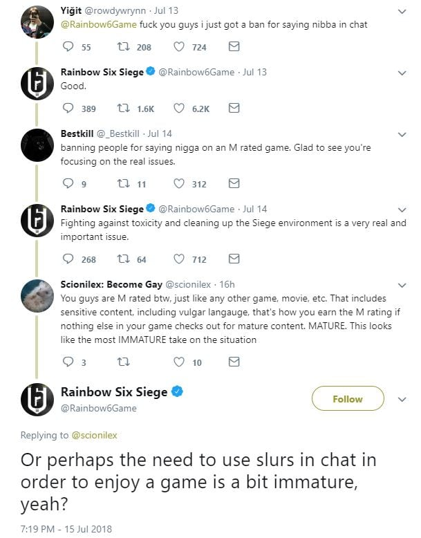 Rainbow Six Siege 'instantly banning' players who use