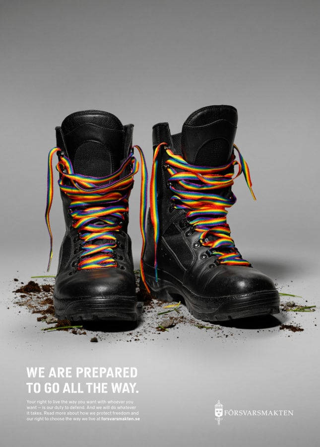 A Pride advert from the Swedish Armed Forces
