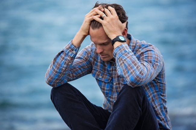 Picture of man with mental health issues, which affect LGBT people