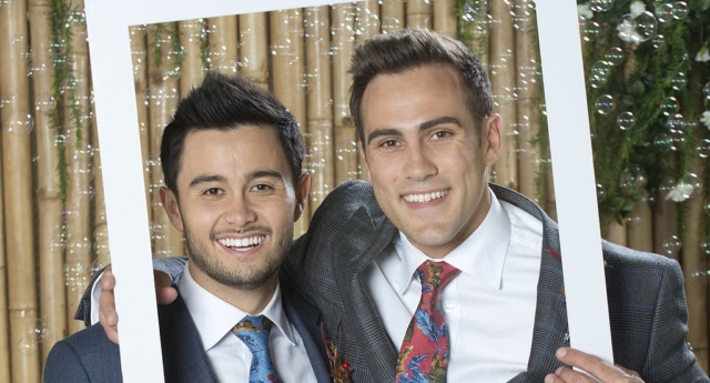 David and Aaron proposed to each other in May (Neighbours)