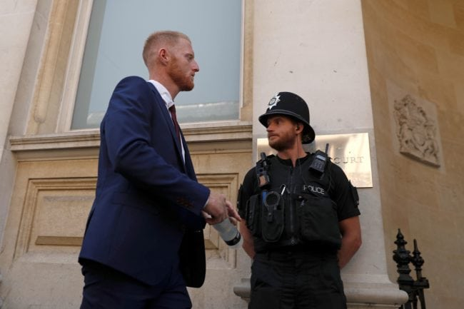 Stokes's international career will be placed in suspended animation during the trial