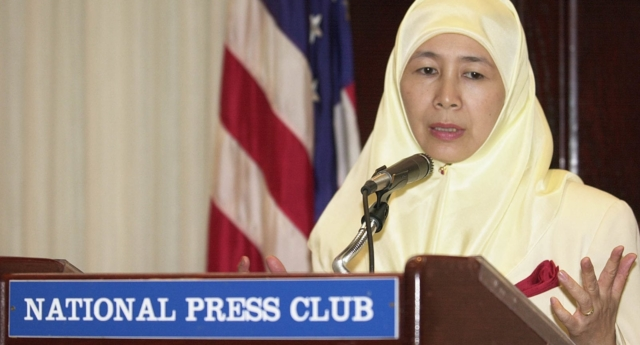 "Dr Wan Azizah Wan Ismail said ""LGBTs have the right to practise whatever [it is] they do in private"" (SHAWN THEW/AFP/Getty)"