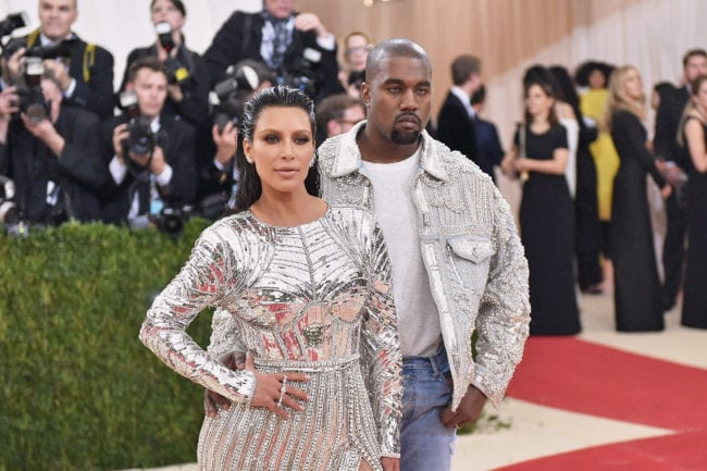 "NEW YORK, NY - MAY 02:  Kim Kardashian (L) and Kanye West attend the ""Manus x Machina: Fashion In An Age Of Technology"" Costume Institute Gala at Metropolitan Museum of Art on May 2, 2016 in New York City.  (Photo by Mike Coppola/Getty Images for People.com)"