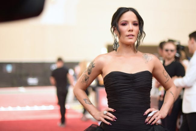 LAS VEGAS, NV - MAY 20: Halsey attends the 2018 Billboard Music Awards at MGM Grand Garden Arena on May 20, 2018 in Las Vegas, Nevada. (Photo by Matt Winkelmeyer/Getty Images for dcp)