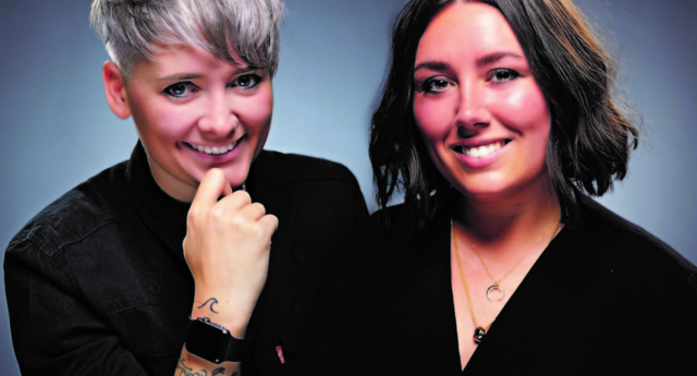 Wives and founders of Crème Creative, Katie (left) and Emma Nattrass-Daniels. (Crème Creative)