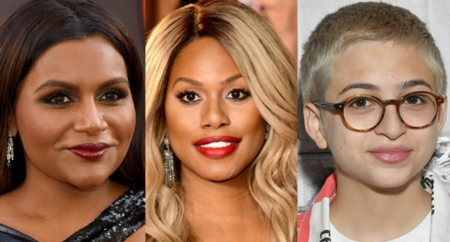 Mindy Kaling and Laverne Cox were two of the stars to come out in support of Totah (Matt Winkelmeyer/Getty and Jamie McCarthy/Getty and Mike Coppola/Getty)