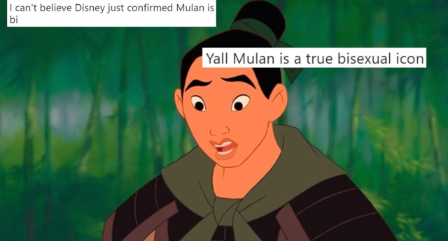 Mulan has long been hailed as a film with queer undertones (disney and twitter)