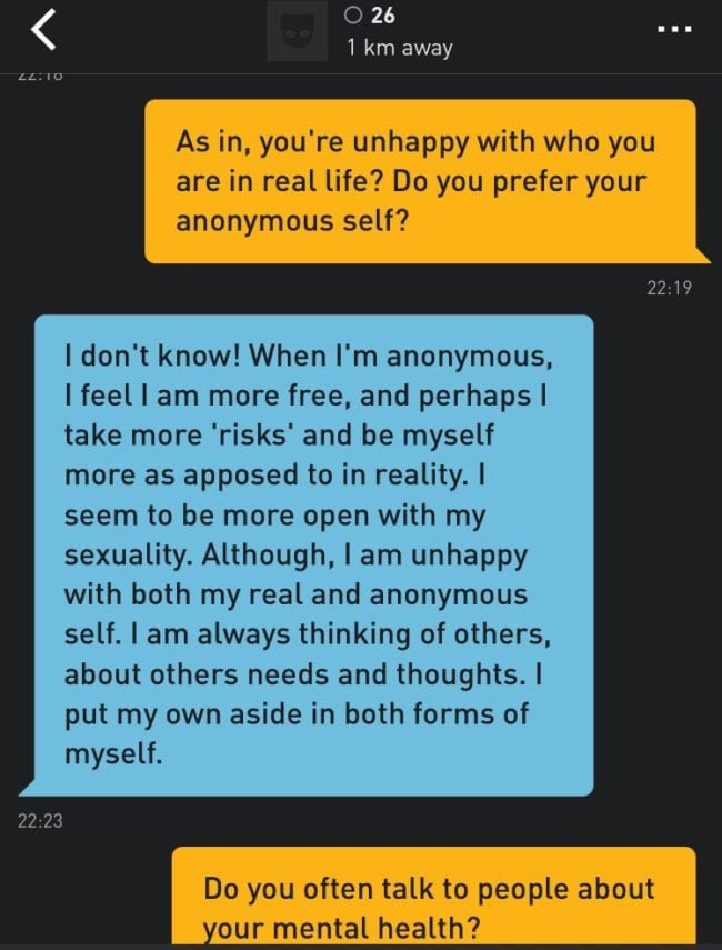 Gay people are turning to strangers on Grindr for mental health