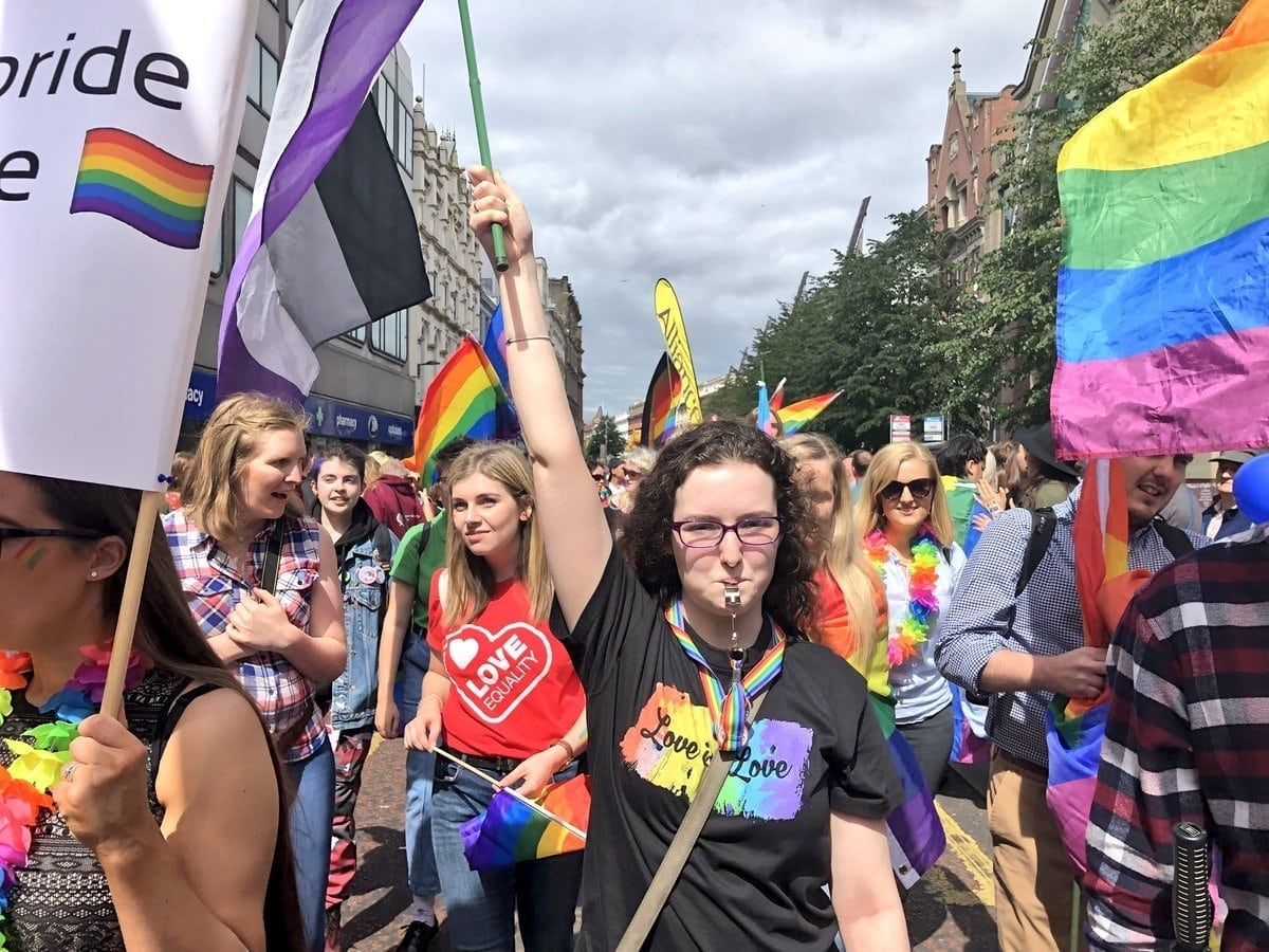 3d79fccdda9c Tens of thousands march for equality at Belfast Pride - PinkNews · PinkNews