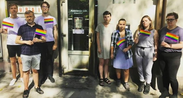 Arsonists attacked the Lithuanian Gay League's office in capital Vilnius. (lgl.lt/Instagram)