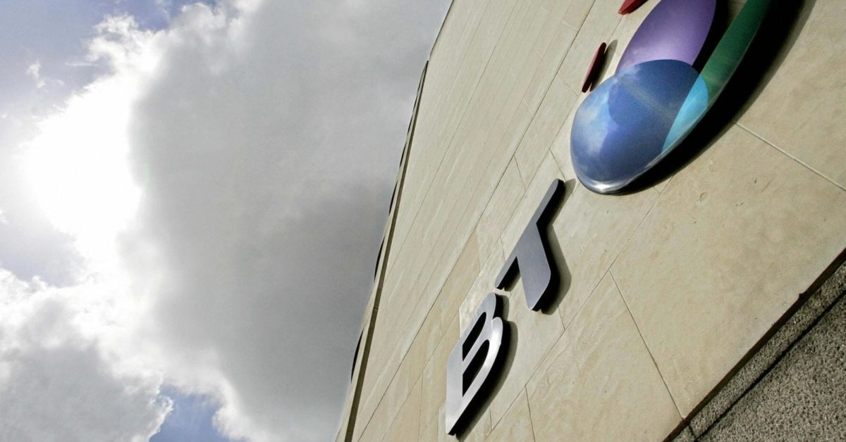 The British Telecom (BT) logo is pictured in London, 18 May 2006 (Shaun Curry/AFP/Getty)