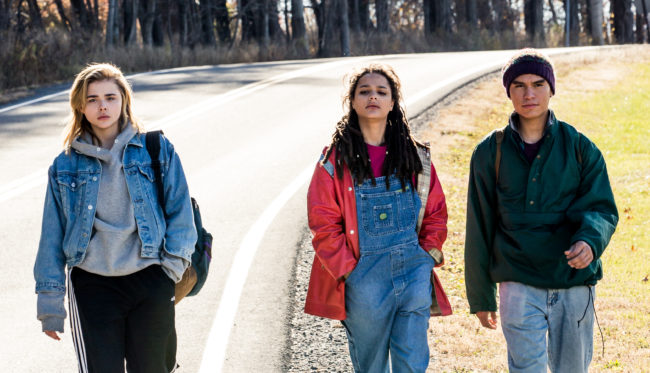 Chloë Grace Moretz, Sasha Lane and Forrest Goodluck in The Miseducation of Cameron Post, one of two 2018 gay films based on gay 'cure' therapy