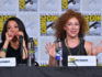 Alex Kingston speaks onstage at A Discovery of Witches during Comic-Con International 2018 at San Diego Convention Center on July 19, 2018 in San Diego, California.  (Mike Coppola/Getty Images)