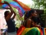 LGBT+ campaigners celebrate the repeal of Section 377 (ARUN SANKAR/AFP/Getty)