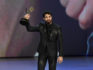 Darren Criss accepts the Outstanding Lead Actor in a Limited Series or Movie award (Kevin Winter/Getty)