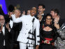 RuPaul and the cast and crew of Drag Race accept Outstanding Reality Competition Programme Emmy for the first time (Kevin Winter/Getty)