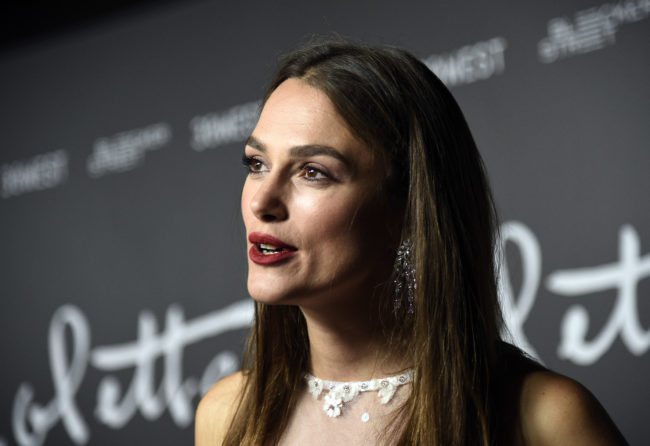 """BEVERLY HILLS, CA - SEPTEMBER 14: Keira Knightley arrives to the premiere of Bleecker Street Media's """"Colette"""" at Samuel Goldwyn Theater on September 14, 2018 in Beverly Hills, California. (Photo by Kevork Djansezian/Getty Images)"""