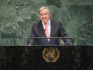 Secretary General of the United Nations Antonio Guterres addresses the 73rd UN General Assembly meeting on September 25, 2018 in New York City. (John Moore/Getty)