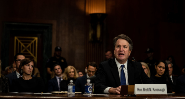 Brett Kavanaugh at the Senate Judiciary Committee hearing on Thursday September 27. (Erin Schaff-Pool/Getty Images)