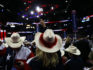 A woman with the Texas delegation waves a Texan flag during the Republican National Convention (Spencer Platt/Getty)