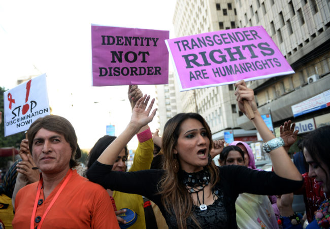 Transgender community gathers to protest hate crimes in Pakistan
