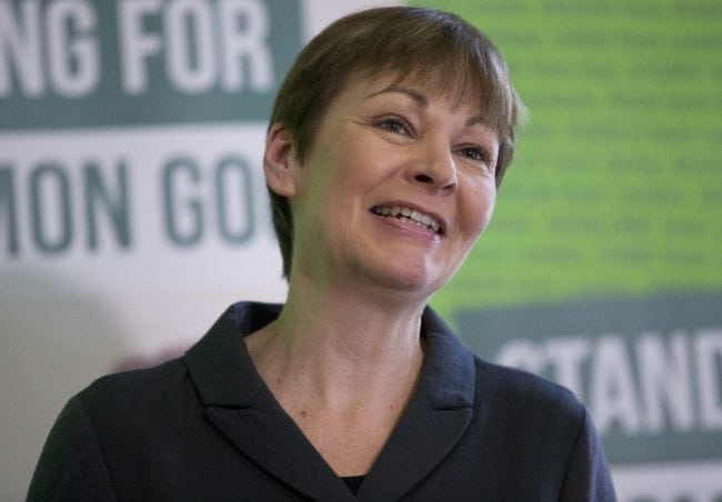 "Green Party member of parliament Caroline Lucas speaks during a press conference to launch the party's election campaign in London on February 24, 2015. Bennett insisted the general election would be the ""biggest, boldest campaign ever"" for her party and told reporters that 90% of voters in England and Wales would have a local Green candidate. Bennett has admitted suffering a ""mind blank"" after a car-crash interview on radio in which she appeared unable to answer questions about key policies. AFP PHOTO / JUSTIN TALLIS (Photo credit should read JUSTIN TALLIS/AFP/Getty Images)"
