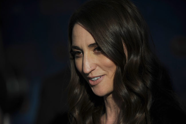 """NEW YORK, NY - APRIL 24: Sognwriter Sara Beth Bareilles attends """"Waitress"""" Broadway Opening Night - Arrival & Curtain Call at The Brooks Atkinson Theatre on April 24, 2016 in New York City. (Photo by Brad Barket/Getty Images)"""