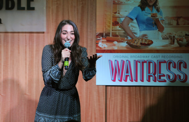 NEW YORK, NY - AUGUST 23: Sara Bareilles attends a live performance from the cast of Broadway's Waitress at Barnes & Noble, 86th & Lexington on August 23, 2016 in New York City. (Photo by Craig Barritt/Getty Images for DMI)