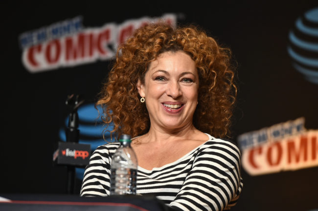 Doctor Who star Alex Kingston speaks at the Tales from the TARDIS panel at Jacob Javits Center on October 6, 2016 in New York City.