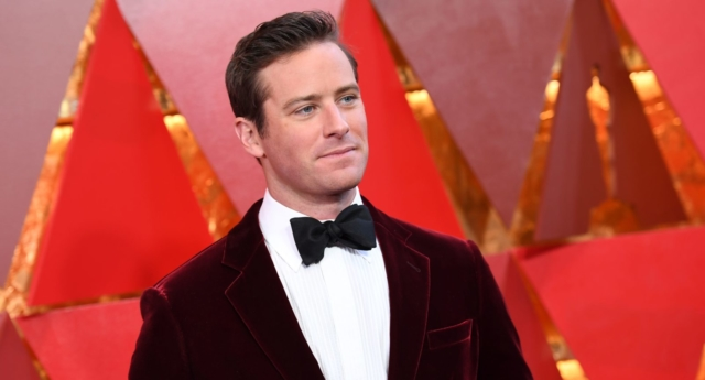 Actor Armie Hammer arrives for the 90th Annual Academy Awards on March 4, 2018, in Hollywood, California. (ANGELA WEISS/AFP/Getty Images)
