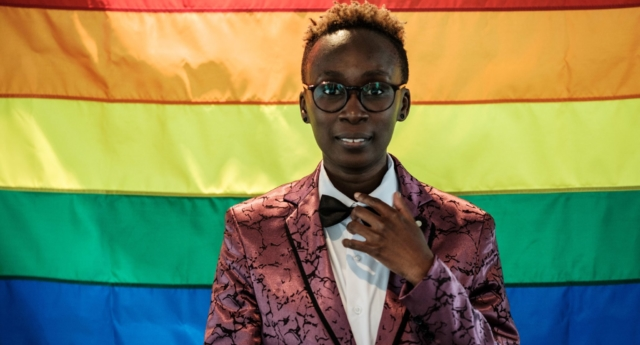 Yvonne Oduor, Gay and Lesbian Coalition of Kenya operations officer, at a UN event (YASUYOSHI CHIBA/AFP/Getty)