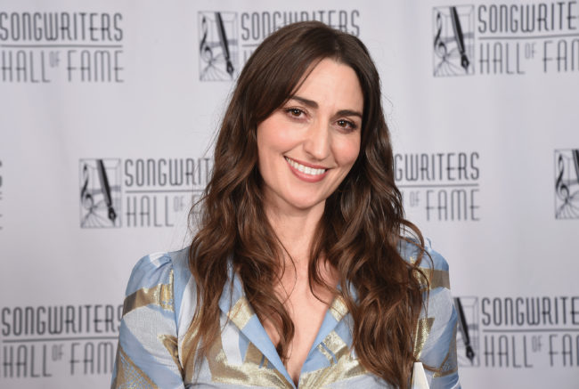 NEW YORK, NY - JUNE 14: Hal David Starlight Award Honoree Sara Bareilles poses backstage during the Songwriters Hall of Fame 49th Annual Induction and Awards Dinner at New York Marriott Marquis Hotel on June 14, 2018 in New York City. (Photo by Gary Gershoff/Getty Images for Songwriters Hall Of Fame)