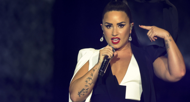 Demi Lovato performs on stage (MIGUEL RIOPA/AFP/Getty)